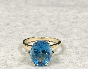10KT London Blue Topez Ring 5ct