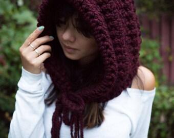 TheHoodEnchanted - oversized shoulder hood - fairy knitwear, knit hood, crochet, big hooded cowl, fesitval cosplay hoodie - SALE