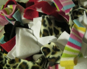READY TO SHIP! Fleece Fabric Strips - Bedding/Foraging Material for African Pygmy Hedgehogs/Tenrecs/Guinea Pigs/Rats