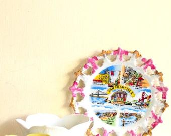 San Francisco Cheerful Lot Plate and Two Sunny Lotus Bowls