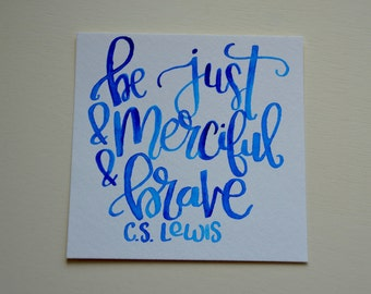 CUSTOM Handmade Watercolor quotes