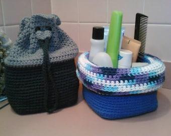 Travel-eze Basket (Crochet Pattern)