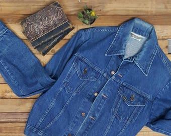 70s Vintage denim jacket large