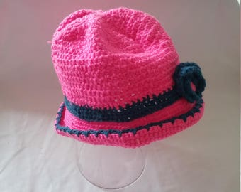 A sweet girl's crocheted hat