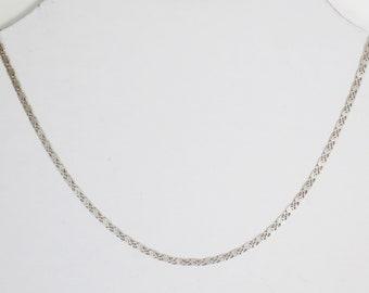 Filigree Silver Necklace/ Chain, 1960s