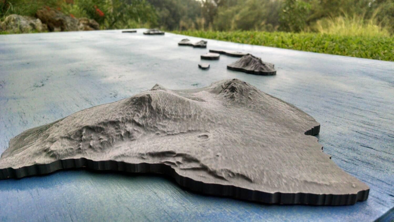 Clad Copper Iron Bronze Hawaiian Island Sculpture Hawaii