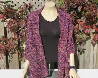Shawl / Super Soft Crochet Shawl / Shawl / Women's Shawl / Crochet Shawl / Wrap / Lap blanket / Prayer Shawl / Winter Shawl  / Purple Shawl