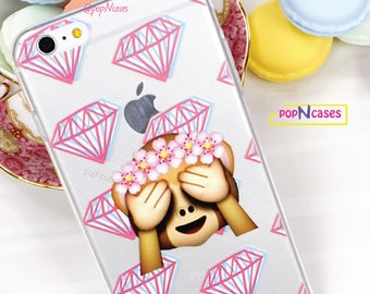 Diamond Emoji Monkey Emoji Phone case for iPhone 6 6s & iPhone 6 Plus 6s Plus