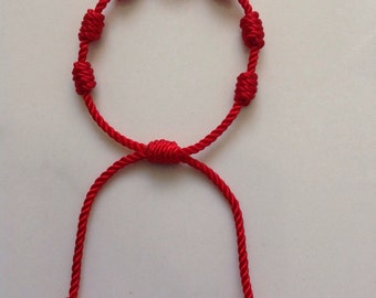 Red Bracelet For Baby Adjustable Protection.