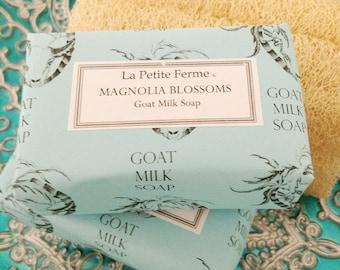 Magnolia Blossoms goat milk soap, gift for her, gift for mom, gift for coworker, gift for teacher, gift under 10