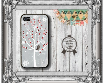 Winter Tree iPhone Case, Holiday iPhone Case, Christmas Phone Case, iPhone 8, 8 Plus, iPhone 7, 7 Plus, iPhone 6, 6s, 6 Plus, SE, 5, 5s, 5c