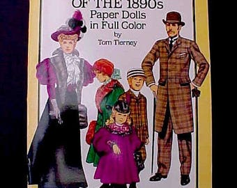 American Family of the 1890's Paper Doll Book by Tom Tierney
