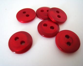 8 buttons red mother of Pearl 10mm