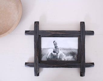 Vintage Wood Picture Frame // Photo Display