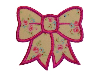 """Pretty Bonny Bow Appliques Machine Embroidery Designs Applique Pattern in 4 sizes 3"""", 4"""", 5"""" and 6"""""""