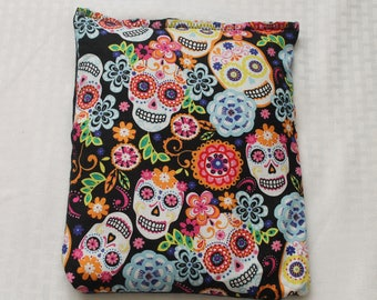 "Heating/Ice Pad 9"" x 11"" - Aromatheraphy Herbal Pack - Sugar Skulls with Bows"