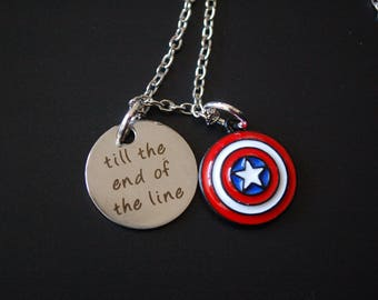 Captain America til the end of the line necklace