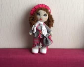 Crochet doll, Handmade crochet Toy, Dollie, Gift Girl