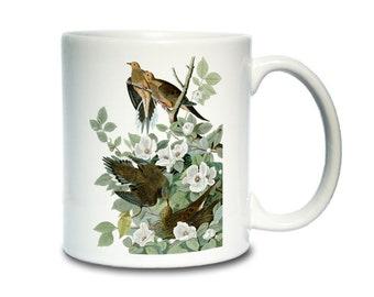 Coffee Mug; Mourning Dove Carolina Pigeon (Now Called Mourning Dove) Audubon Birds Of America