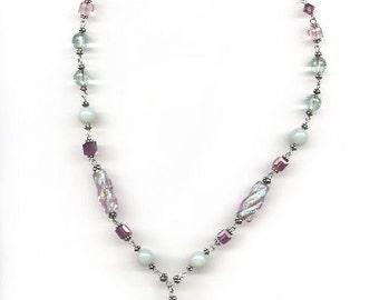 Aqua Quartz Briolette Necklace