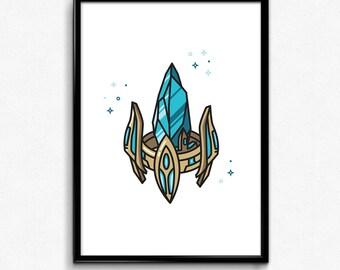 Pylon from Starcraft 2 - Digital Print