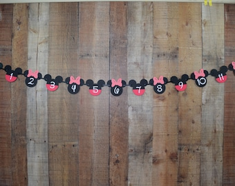Minnie Mouse Banner, Mickey Mouse Banner, Minnie Mouse Milestone, Mickey Mouse Milestone, Minnie Mouse Tags, Mickey Mouse Tags, Disney