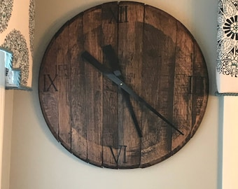 Bourbon Barrel Clock