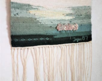 Scandinavian / Swedish / Vintage A small hand-woven / wall hanging / Rana from the 80's