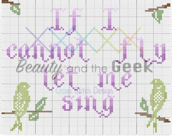 If I Cannot Fly Sweeney Todd Cross Stitch Pattern