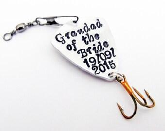 Grandad Fishing Lure, Granddad of the Bride, Grandpa Gift, Personalized Papa Gift, Personalized Fishing Lure, Outdoors sport custom spoon