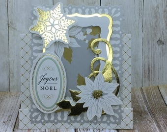 Christmas Gift Card Holder, Handmade Christmas Card, Unique Greeting Card, Customizable Christmas Card