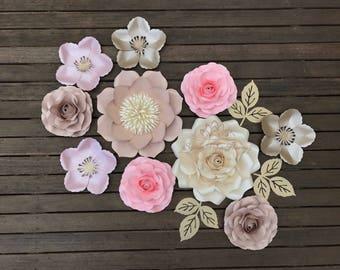 SUPER MINI 44 paper flower backdrop/Paper flower wall/Wedding Backdrop/Backdrop /Bridal Baby shower/Sweet table/Christening /Dessert table