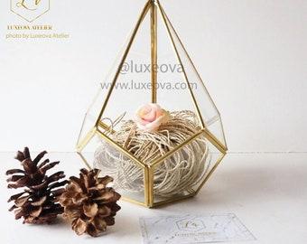 Terrarium Teardrop, handgemachte Terrarium Glas, Glas-Vase, Gartenarbeit-Geschenk-Box, Glasmalerei, Kerzenhalter, Tischdeko, saftig Schachtel Geschenk