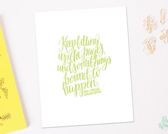 Someday, Someday, Maybe Quote - Hand Lettered Print