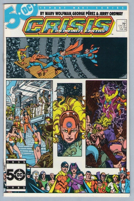 Crisis on Infinite Earths 11 Feb 1986 NM- (9.2)