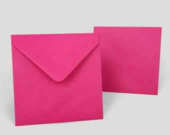 Envelopes Rose Fuchsia, 140 x 140 mm