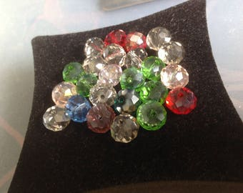 Faceted 10 mm multicolor beads