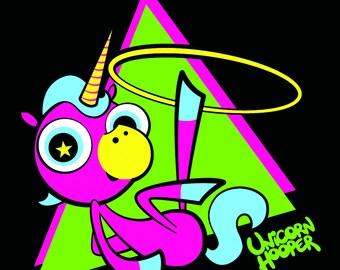 Hoof Hooping Unicorn vinyl sticker