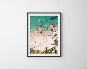 Photo of People on the Beach. Fine Art Photography Gallery. Portugal beach (Nazaré), Europe.Summer. Wall photo. Fine Ar Photography.