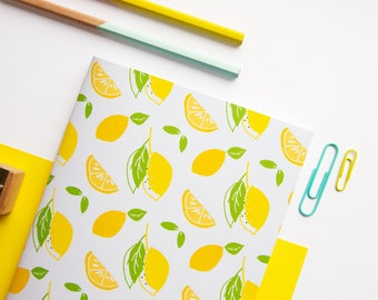 A5 Notebook / Lemon Notebook / Cute Stationery / Back to School / Exercise Book / Cute Notebook