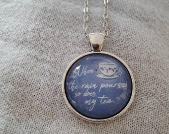 Tea Drinker Gift/Unique Necklace/Tea Jewelry/ Tea Cup Necklace/Tea Lover