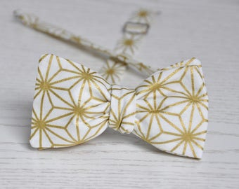 Golden Bow Tie for Groom. Men's Bow tie. Wedding Bow Tie.