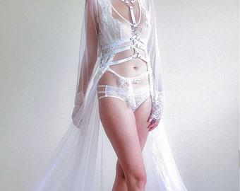 David Robe. Irina Shad Intimates. Bra,Bridal Robe,Robe,Wedding Lingerie, Bridal Lingerie,Nightgown-Made to order.