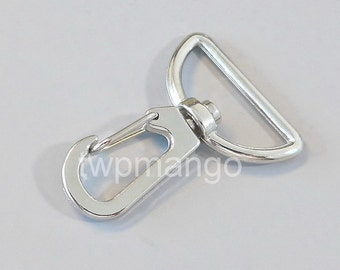 25 Silver Metal Swivel Lobster Clasps... Clips... Trigger... Large D Ring... H144-25