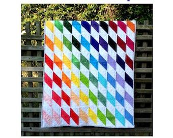 Rainbow Diamonds Baby Quilt - PDF pattern