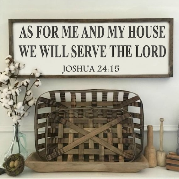 Serve The Lord, Bible Verse, Rustic Sign, Fixer Upper Style, Kitchen Decor, Farmhouse Style Decor, Handlettering, Gallery Wall, Script Font