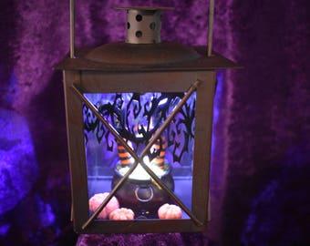 Witch in cauldron Lantern