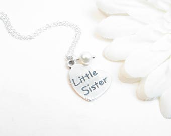 Little Sister Necklace - Little Sister Jewelry - Little Sister Gift - Sister Jewelry - Adult Little Sister - Sorority Little Sister Gift
