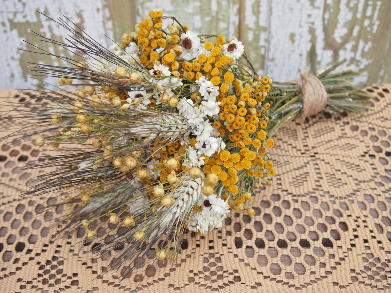 Hippie chic wedding bouquet dried flowers are perfect for zoom izmirmasajfo Images