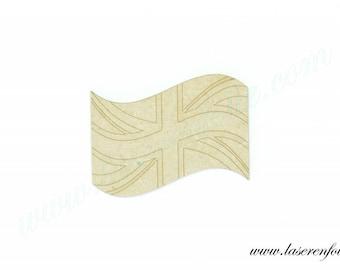 British flag, made of medium size 5cm